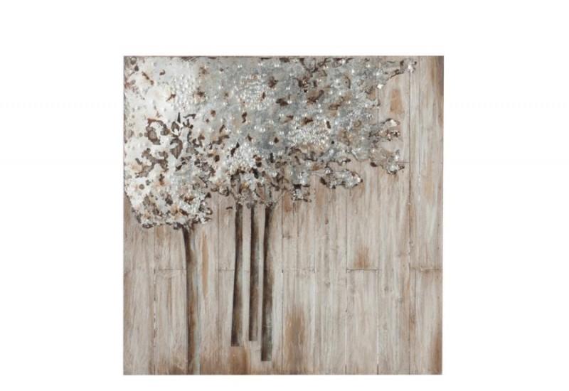 Decoration murale bois metal