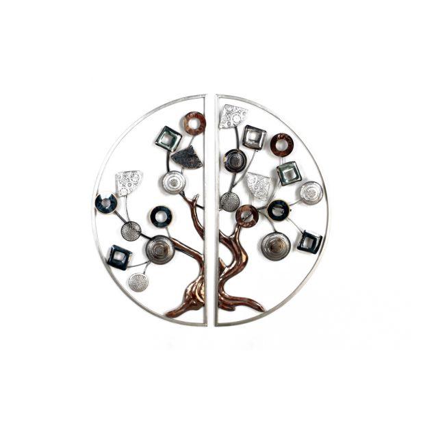 Decoration murale metal arbre de vie