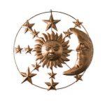 Décoration murale métal lune