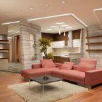Decoration plafond salon rénové