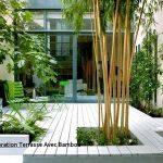 Décoration de jardin en bambou