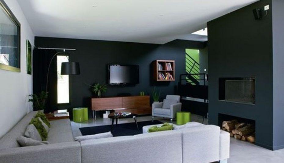 Decoration interieur vert anis et blanc