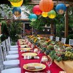 Decoration table repas au jardin