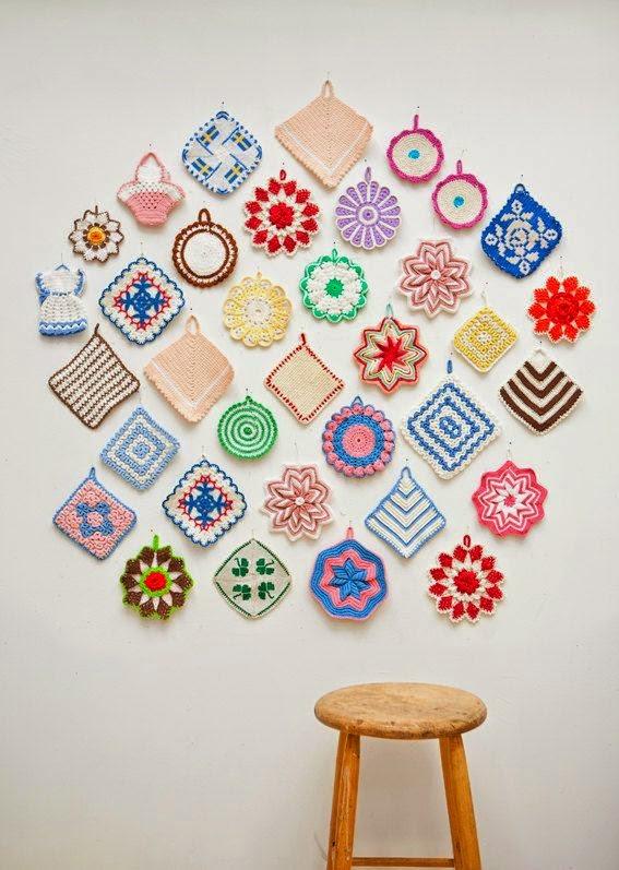 Decoration murale crochet