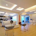 Decoration salon faux plafond