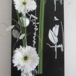 Decoration murale fleur artificielle