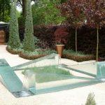 Décoration jardin verre
