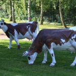 Vache de decoration pour jardin