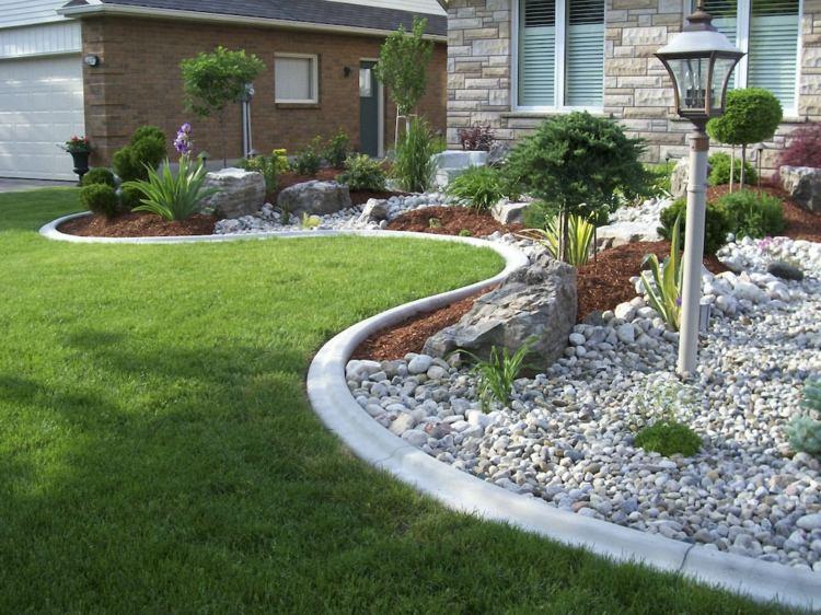 Decoration jardin avec des pierres - Design en image