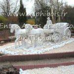 Décoration de jardin en pierre reconstituée