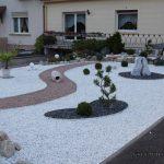 Décoration jardin gravier