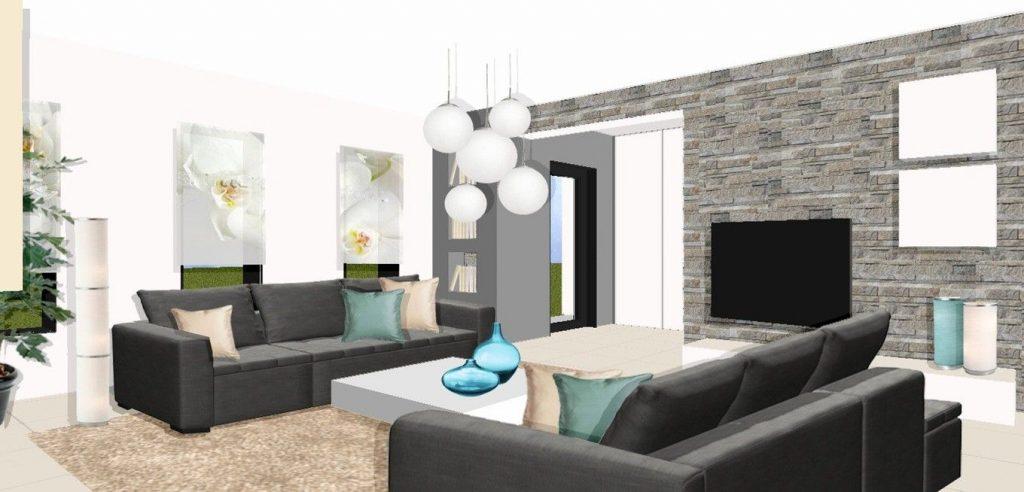 Décoration intérieure moderne salon