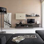Décoration salon moderne marron