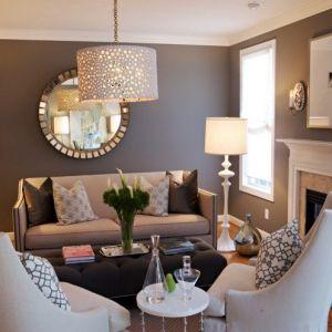 Decoration salon marron et blanc - Design en image