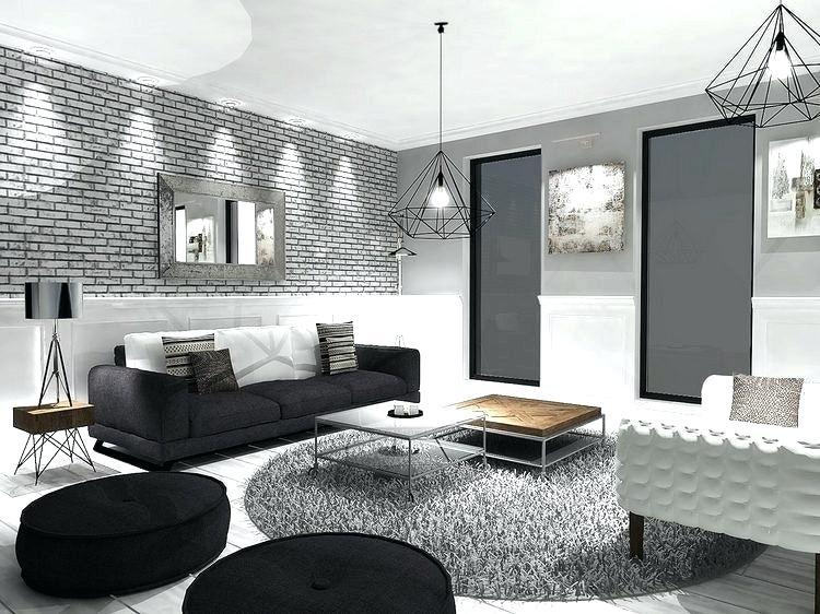 Décoration salon canapé noir - Design en image