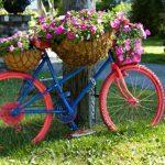 Décoration jardin vélo