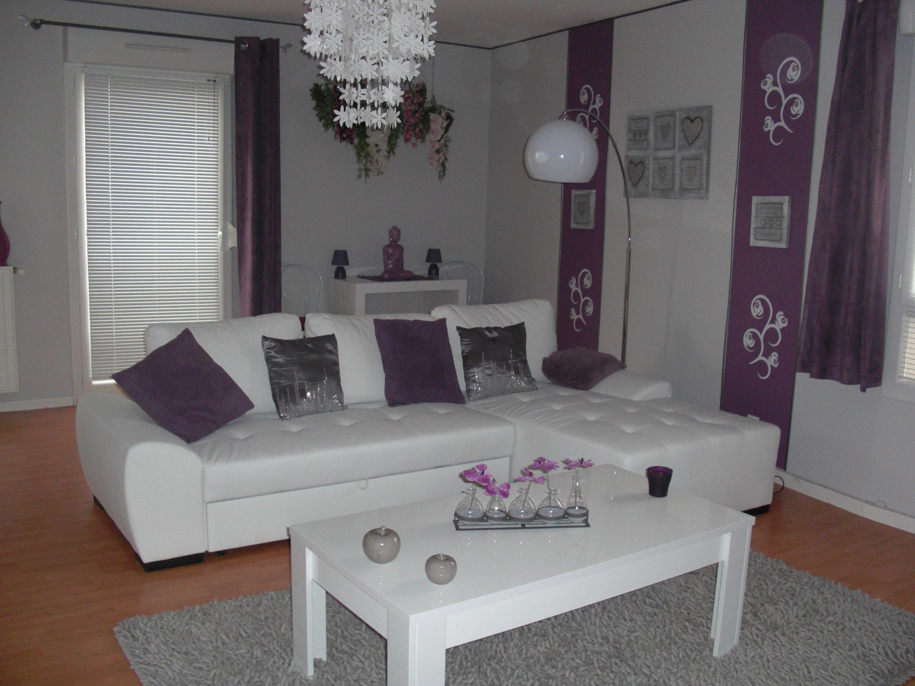 Decoration salon gris mauve - Design en image
