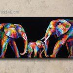 Decoration murale exterieure elephant