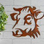 Decoration murale métal rouillé