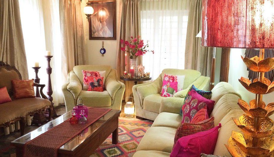 Decoration salon inde