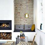 Image decoration salon avec cheminée