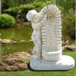 Decoration en fonte pour jardin