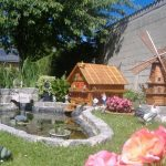 Moulin bois décoration jardin