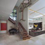Décoration mur escalier intérieur