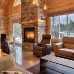 Décoration intérieure maison bois rond