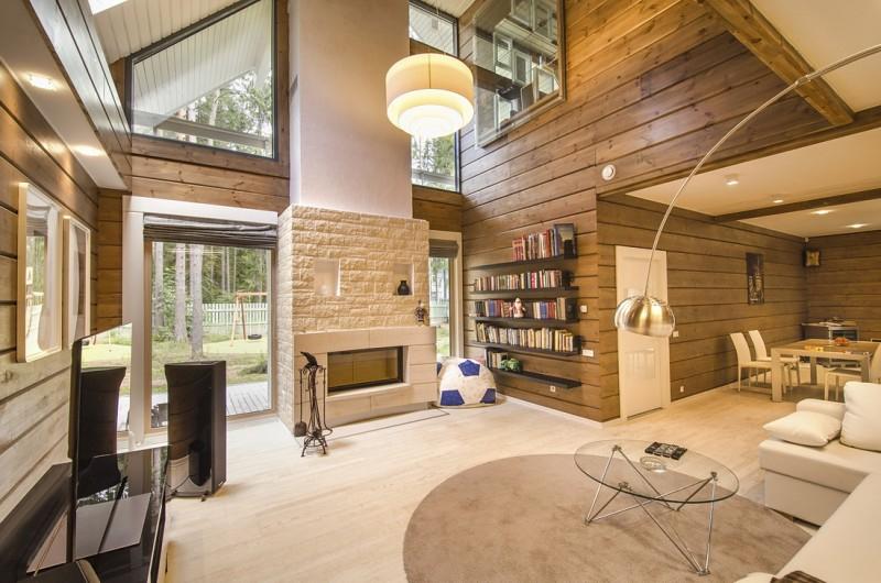 Idee decoration interieur maison bois - Design en image