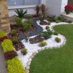 Décoration de jardin avec des galets