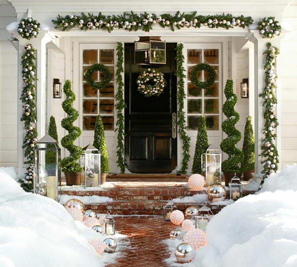 Decoration entrée maison noel