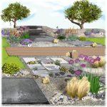 Decoration jardin minéral