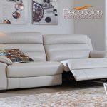 Décoration salon cuir blanc