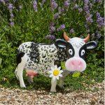 Vache de jardin décoration