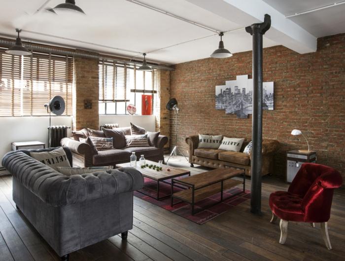 Décoration salon loft