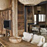 Decoration interieur salon chalet
