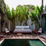 Decoration autour piscine jardin