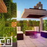 Minecraft décoration jardin
