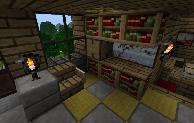 aménagement maison minecraft
