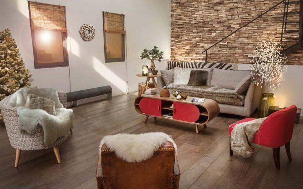 Decoration salon bois flotté