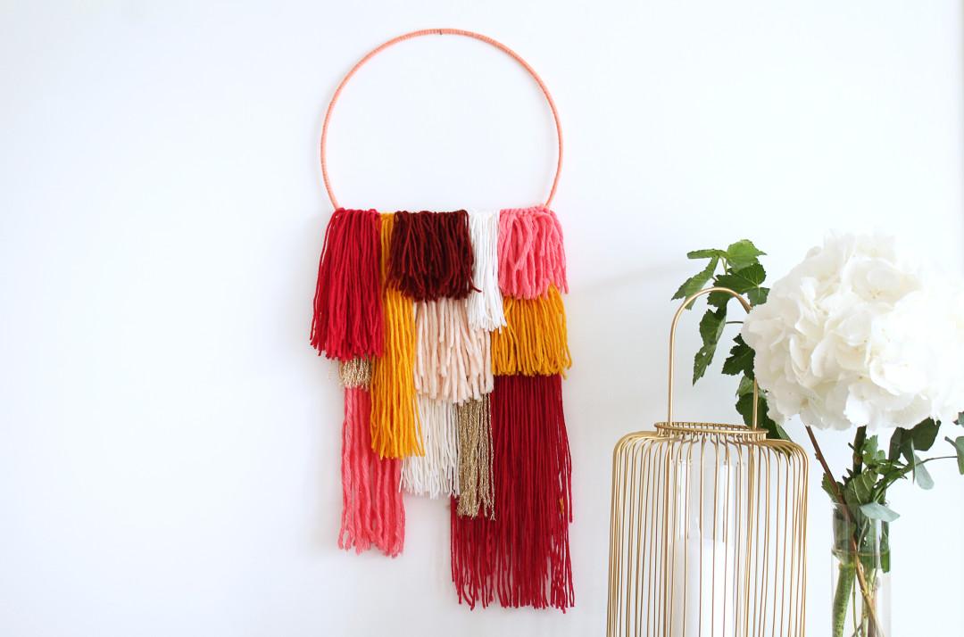 Décoration murale fil de laine