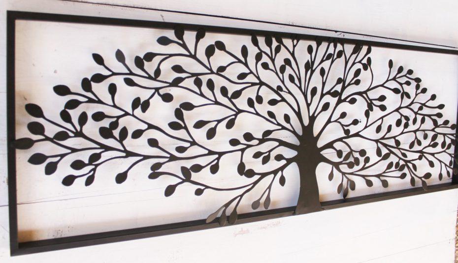 Décoration murale extérieure fer forgé
