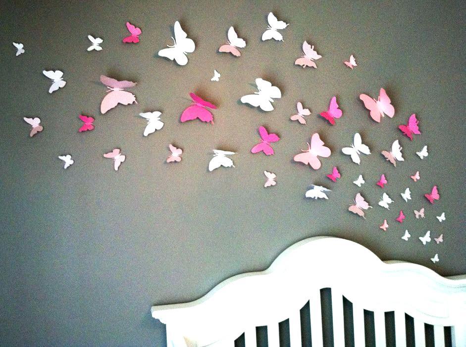 Papillon 3d décoration murale - Design en image