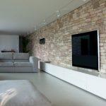 Décoration salon pierre et bois