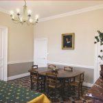 Décoration salon salle à manger mur rouge