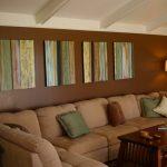 Decoration salon marron vert anis