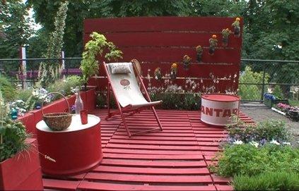 Décoration de jardin avec récupération - Design en image