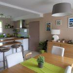 Decoration salon vert anis