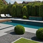 Decoration piscine jardin
